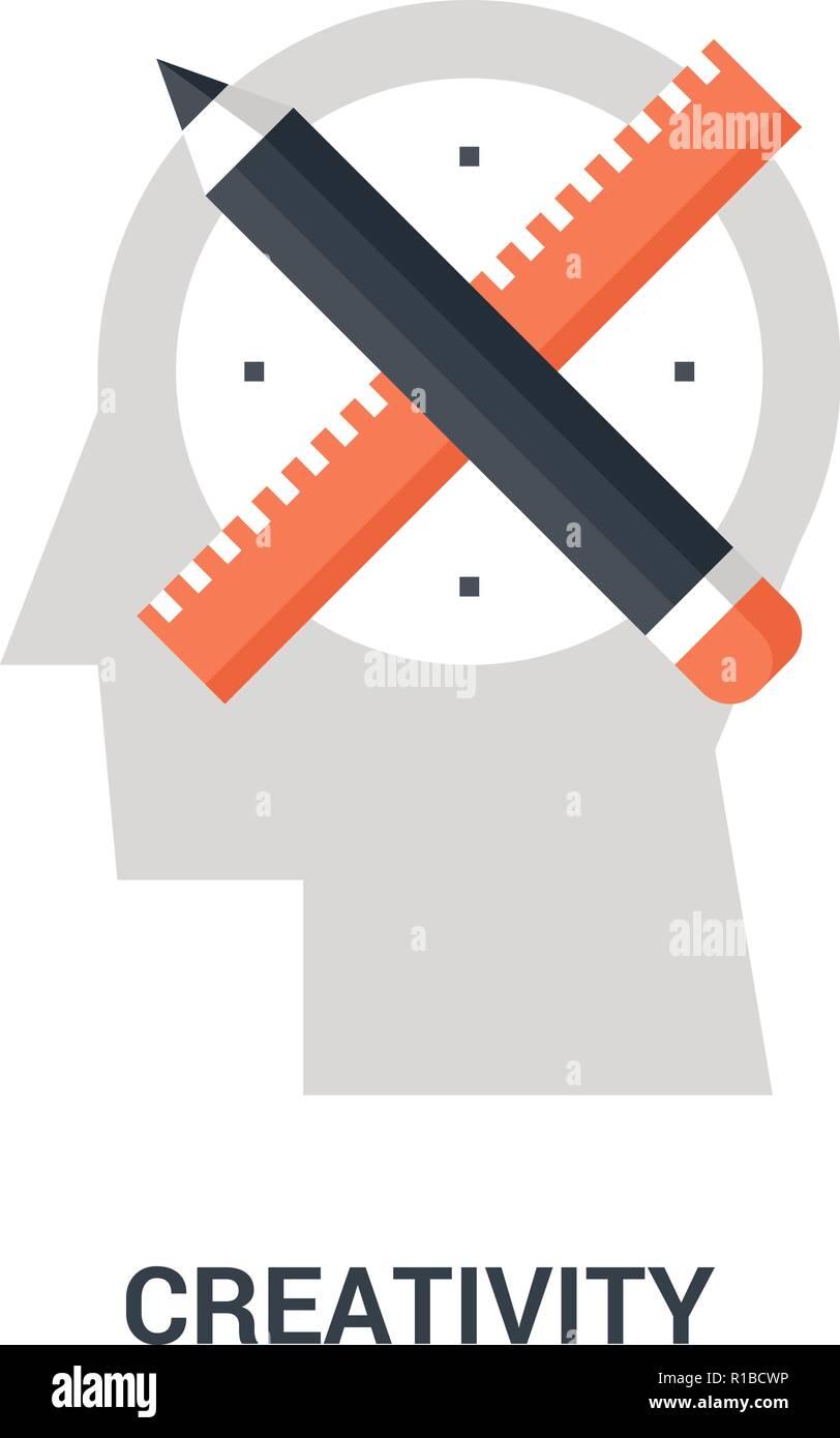 La creatividad concepto de icono Ilustración del Vector