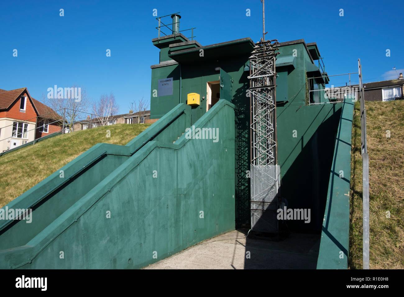 Guerra Fría bunker, situado en Minument cerca, York, North Yorkshire. Búnker nuclear que estuvo en servicio desde 1960 a 1990, dirigidos por el English Heritage, una Imagen De Stock