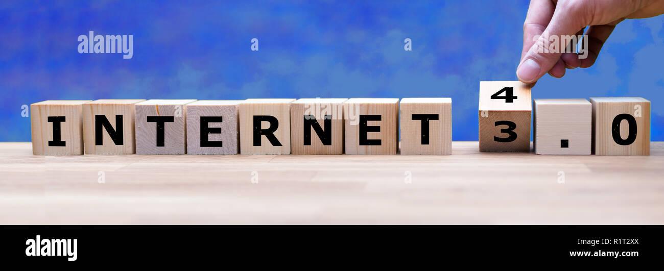 Internet 4.0: El ambiente Internet Imagen De Stock