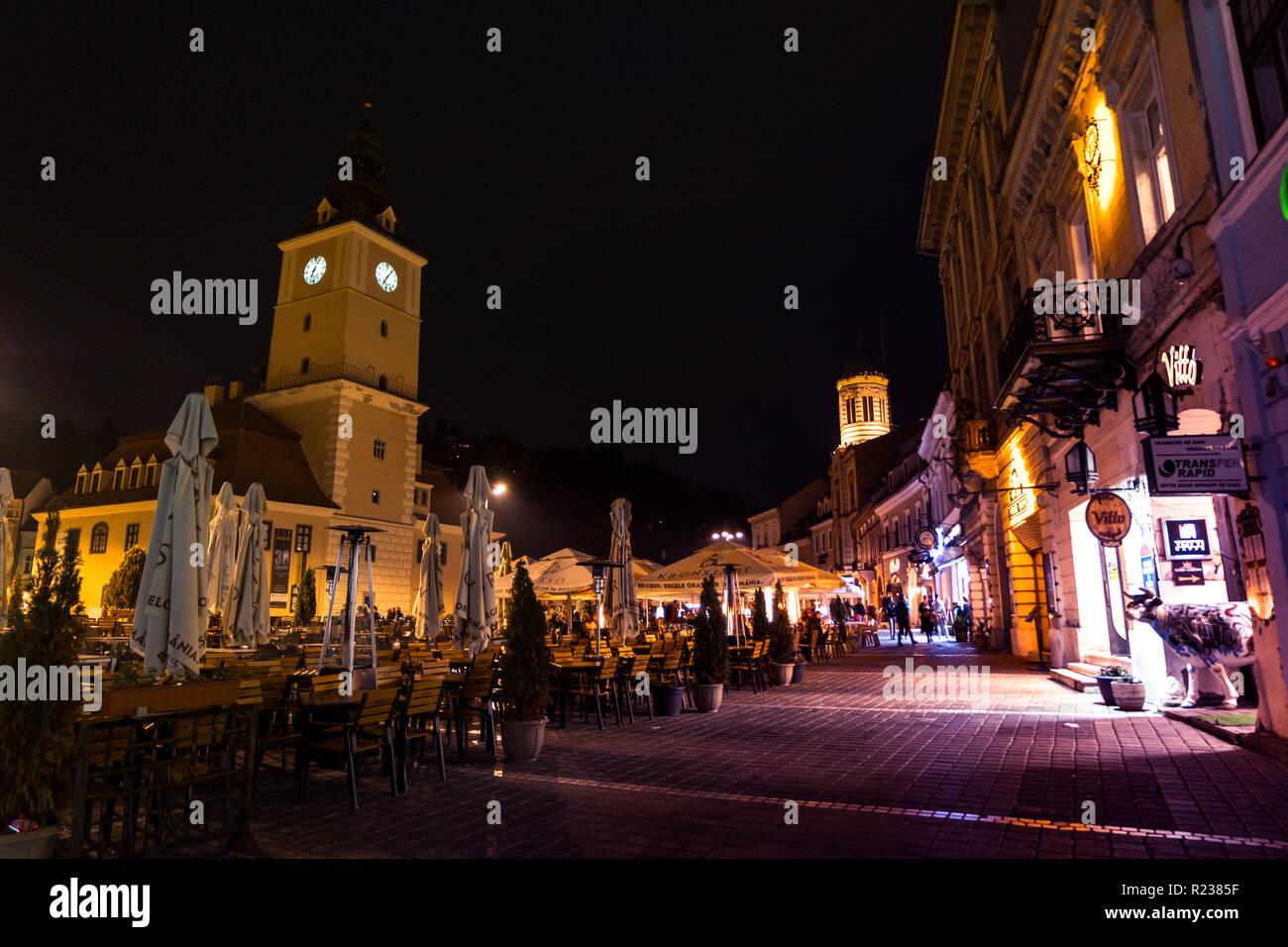 Brasov Rumania 21 De Octubre 2018 El Edificio Del