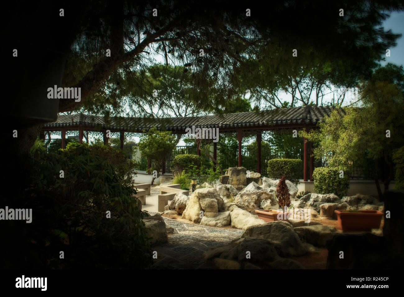 Un jardín de Serenidad Foto de stock