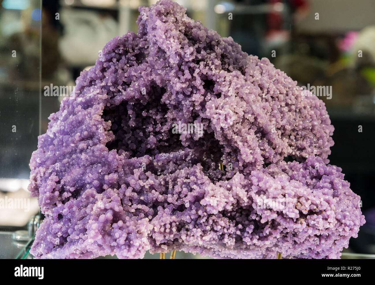 Agregado de violeta Nódulos de sílice. Imagen De Stock