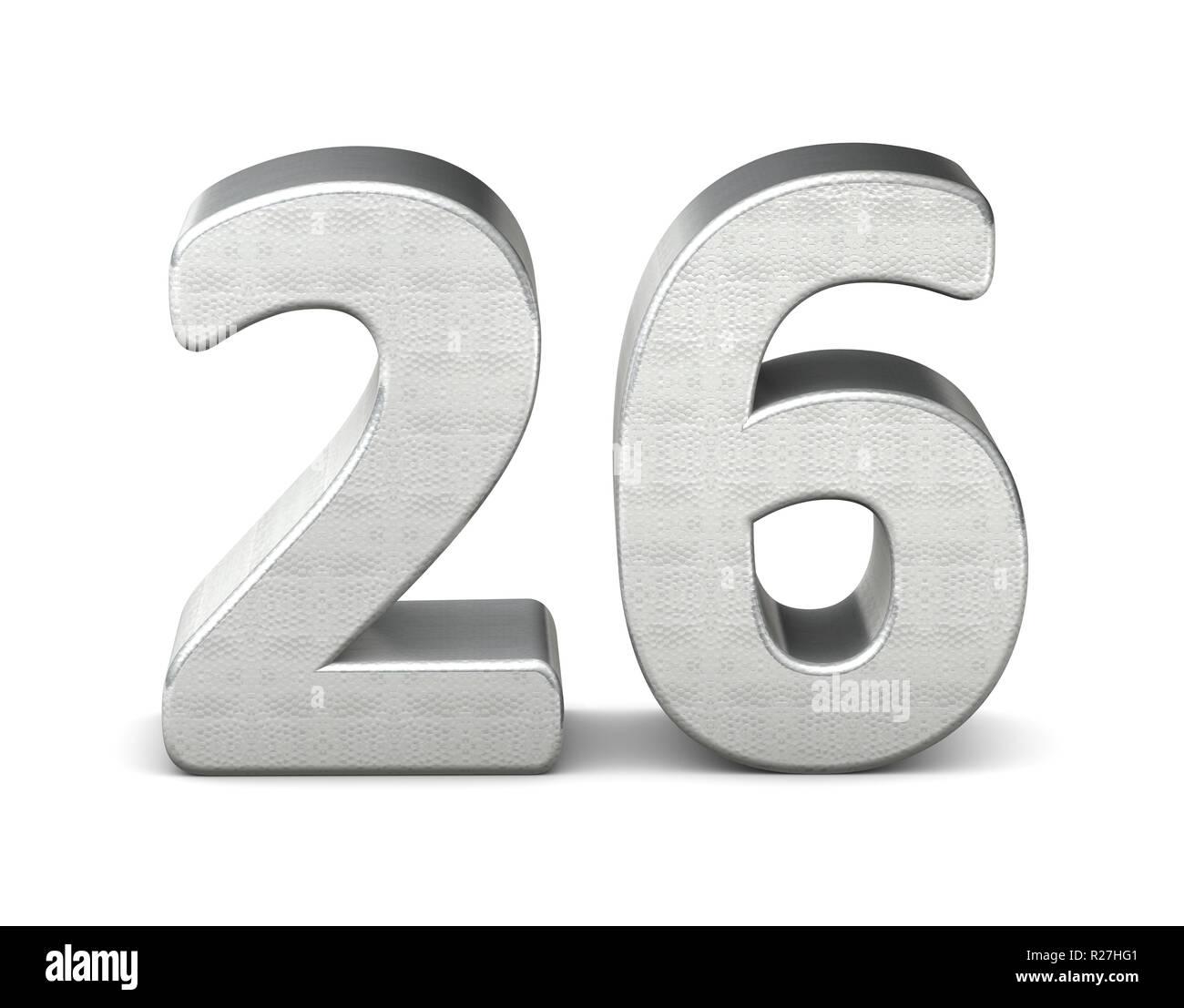 2128385a525f7 26 número 3D rendering 3D Estructura de plata Foto   Imagen De Stock ...