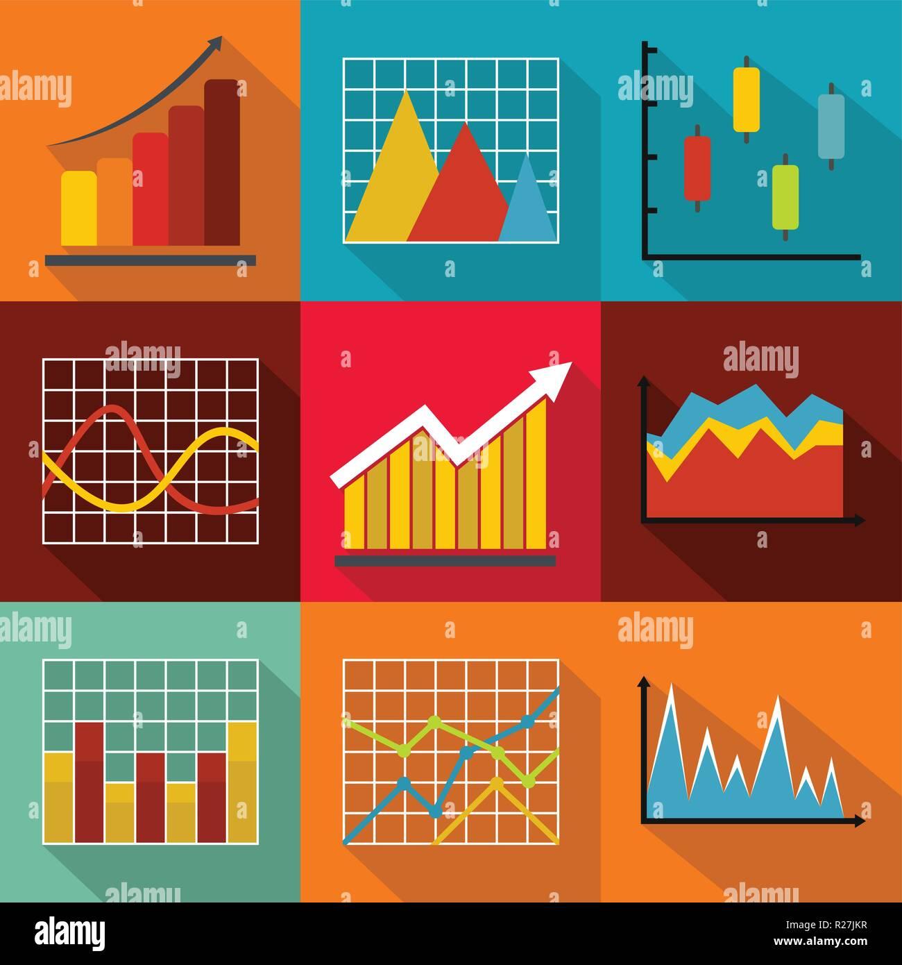 Tabla resumen de conjunto de iconos. plano conjunto de 9 Tabla resumen iconos vectoriales para web aislado sobre fondo blanco. Imagen De Stock
