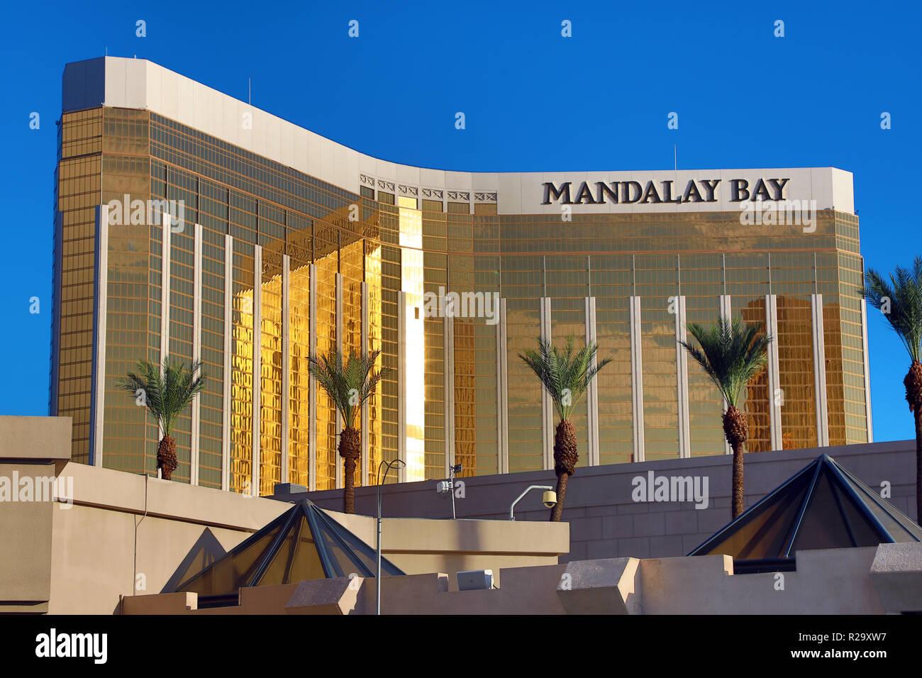 Mandalay Bay Hotel y Casino, Las Vegas, Nevada, Estados Unidos Foto de stock