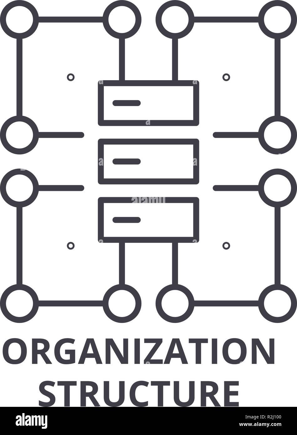 Icono De Línea De La Estructura De Organización Concepto
