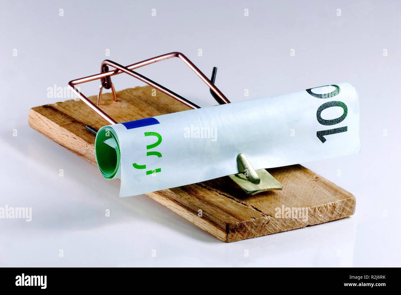trampa del dinero Foto de stock