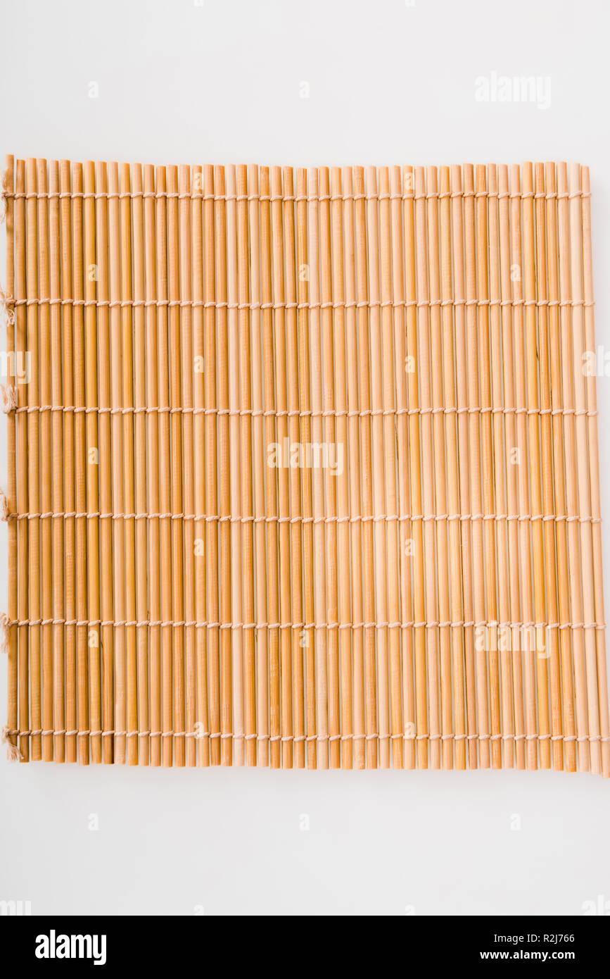 Entrelazado de rodadura sushi bambú mat Imagen De Stock