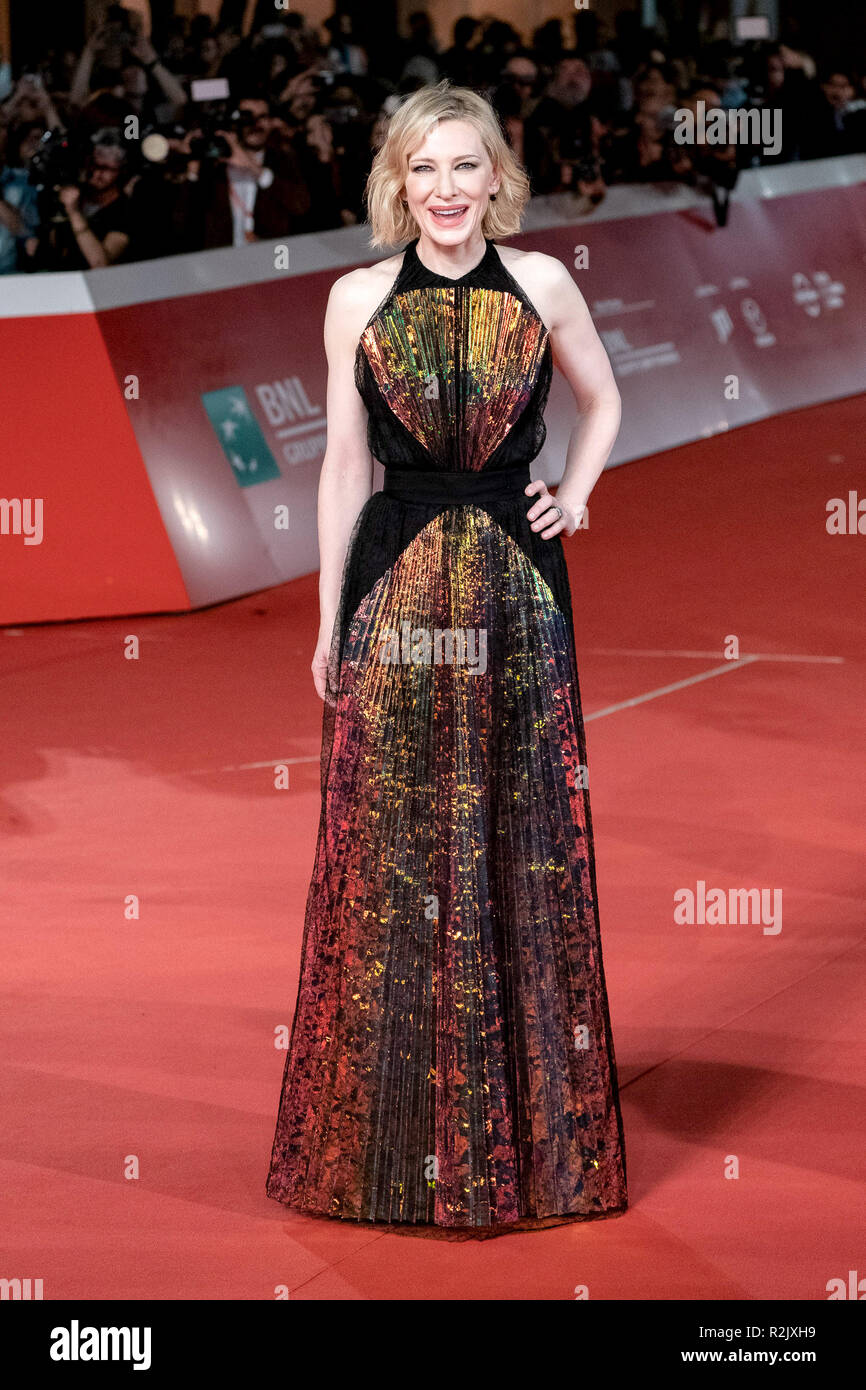 13 Roma Film Fest - La casa con un reloj en sus paredes - Premiere Featuring: Cate Blanchett donde: Roma, Lazio, Italia cuando: 19 Oct 2018 Crédito: WENN.com Imagen De Stock