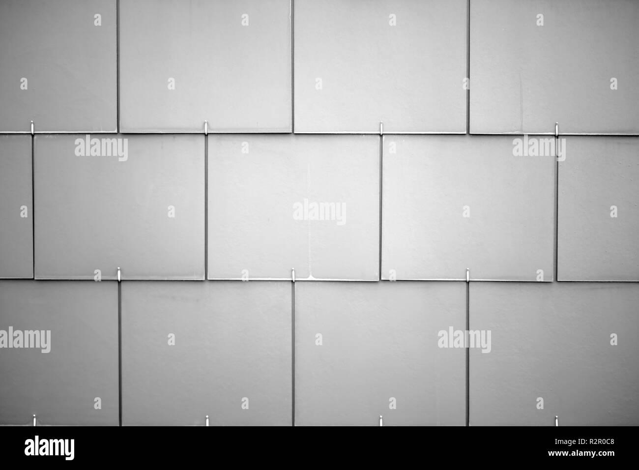 Fachada de un edificio, paneles de plástico Imagen De Stock