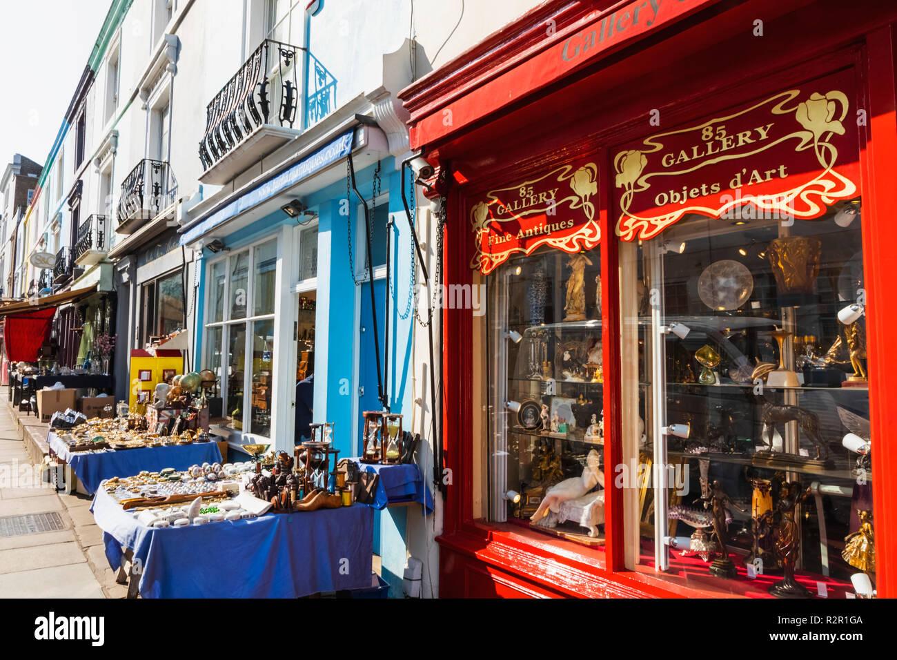 Inglaterra, Londres, Notting Hill, Portobello Road, tiendas de antigüedades Foto de stock