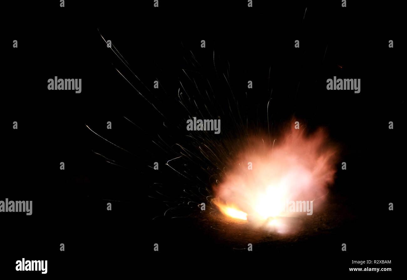 Fuegos artificiales Foto de stock