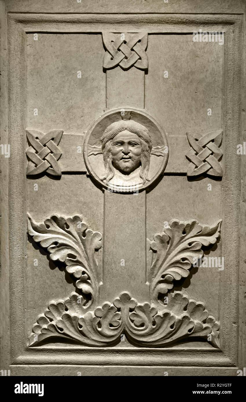 Maestro del norte de Italia, cruz con tensa del Redentor, del siglo XIII, Italia, Italiano, Imagen De Stock