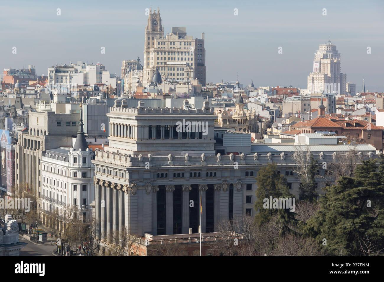 Madrid España 24 De Enero De 2018 Vista Desde La Terraza