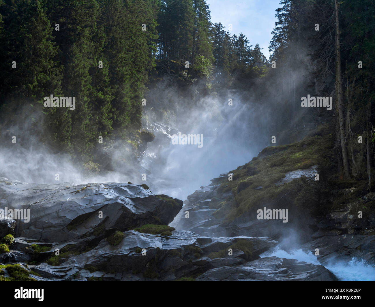 Krimmler Falls, Parque Nacional Hohe Tauern, Salzburger Land, Austria, Europa Foto de stock