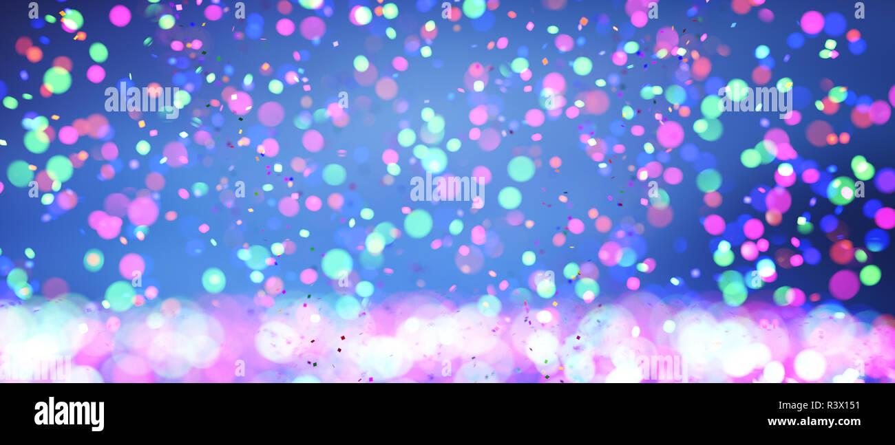 Resumen coloridas luces borrosa para diseño de fondo festivo como navidad u otras fiestas estacionales,3d ilustración Imagen De Stock
