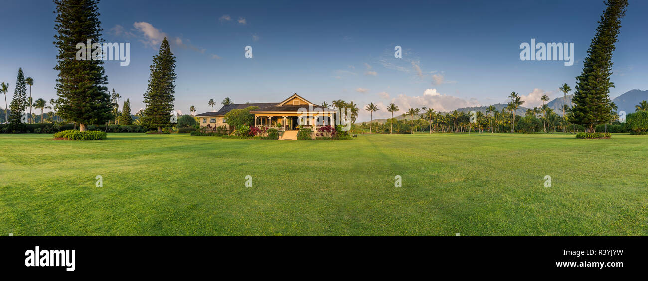 De Hanalei Bay, Hawai, Kauai Kauikeolani Break Imagen De Stock