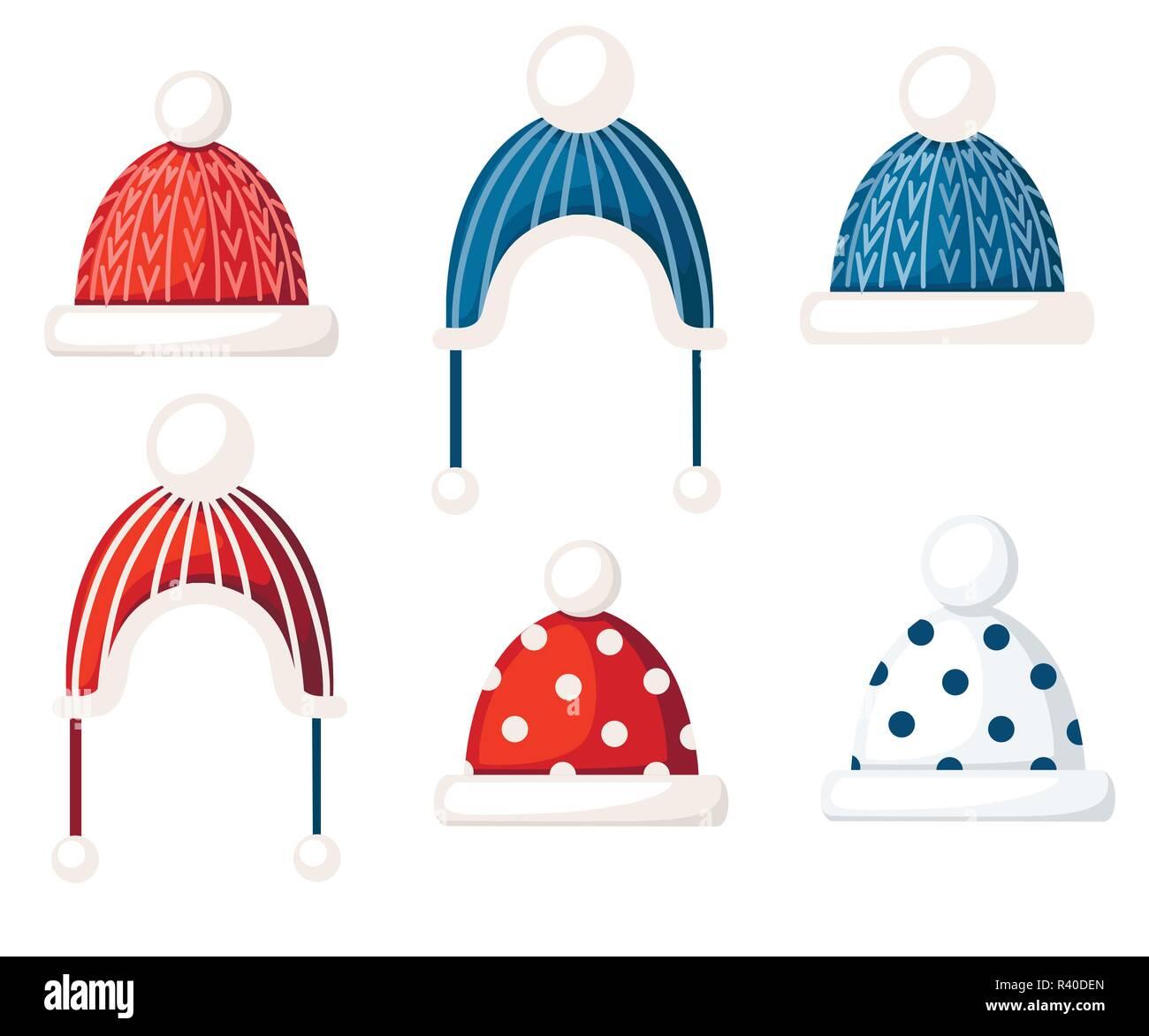 Winter Hat Clothes Icon Vector Imágenes De Stock & Winter Hat ...