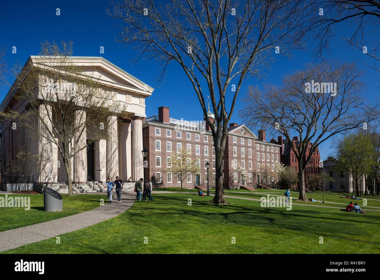 Estados Unidos, Providence, Rhode Island, la Universidad de Brown, campus Ivy League Imagen De Stock