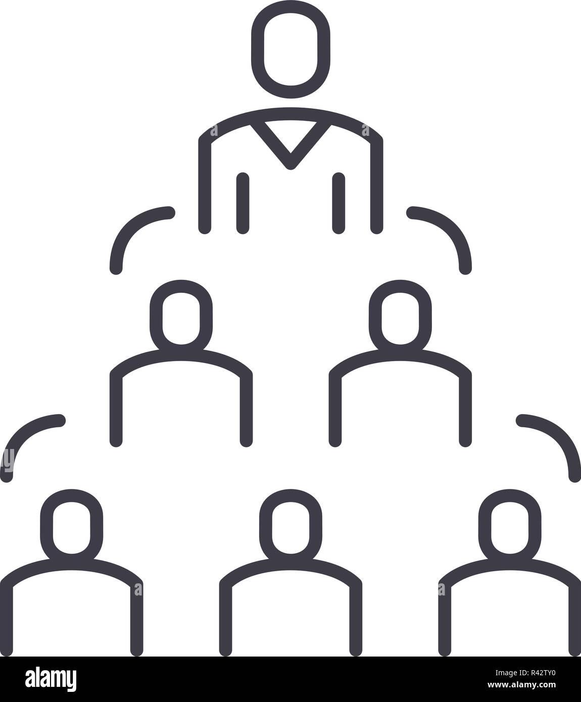 Icono De Línea De La Estructura De La Empresa Concepto La