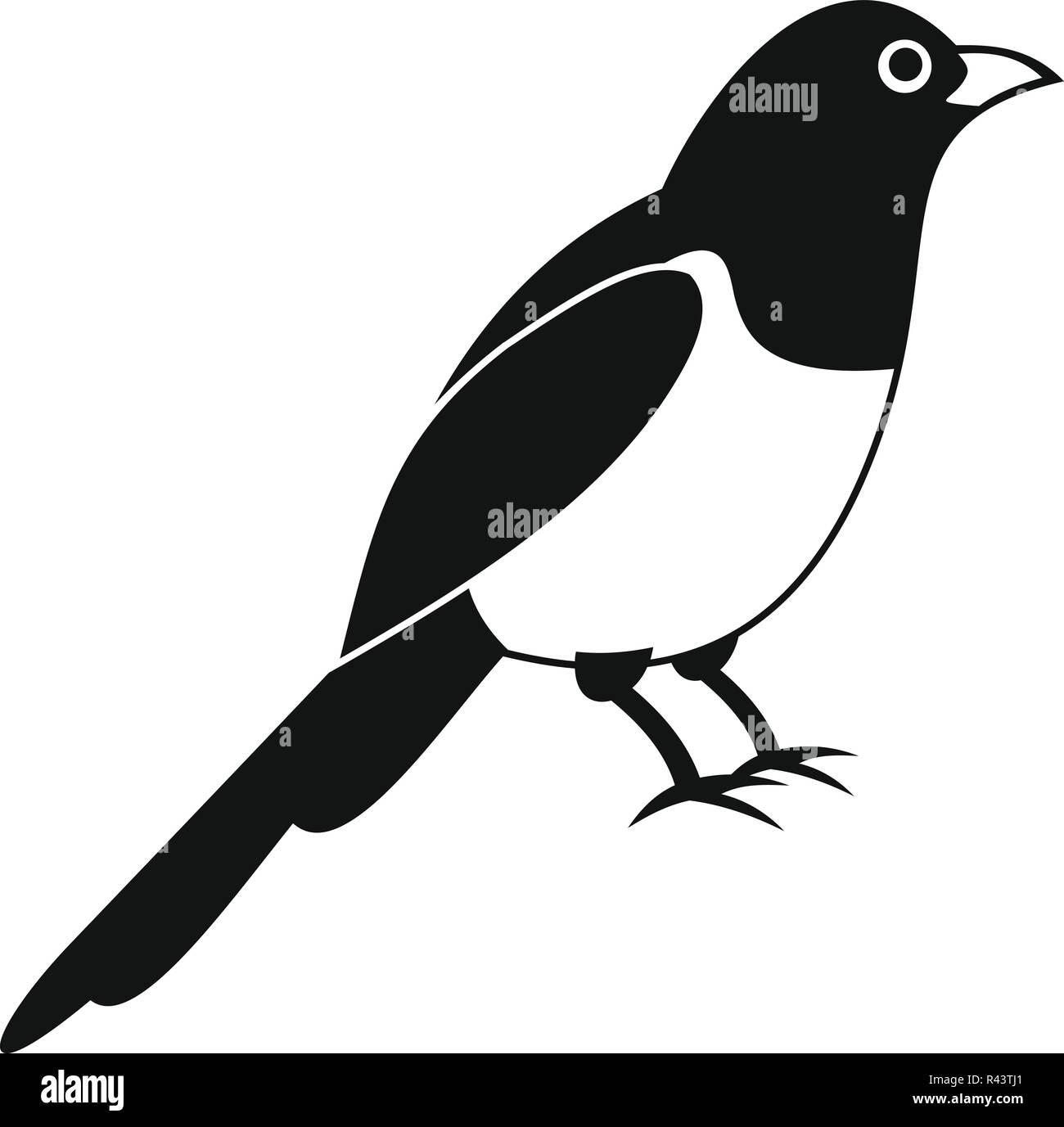 Urraca icono de aves. Simple ilustración de magpie pájaro icono ...