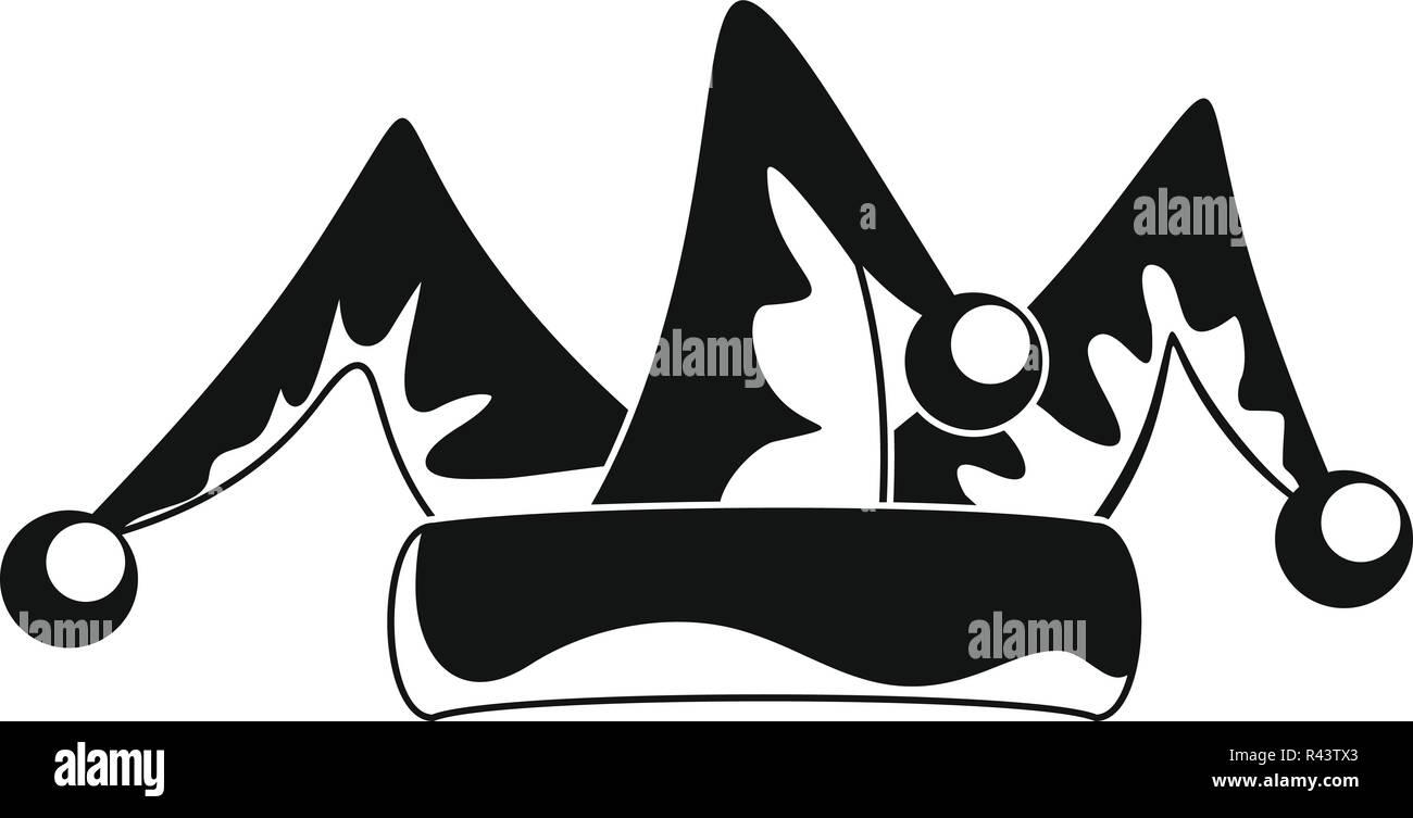 ... joker hat aislado sobre fondo blanco. C196N4 (RF). Payaso hat bells  icono. Simple ilustración de payaso hat bells icono vectoriales para diseño  web 7ead1332677