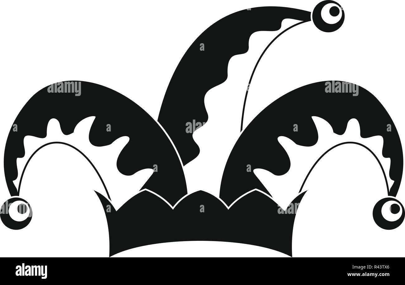Humor jester icono. Simple ilustración de humor bufón icono vectoriales  para diseño web aislado sobre 64ab45fd617