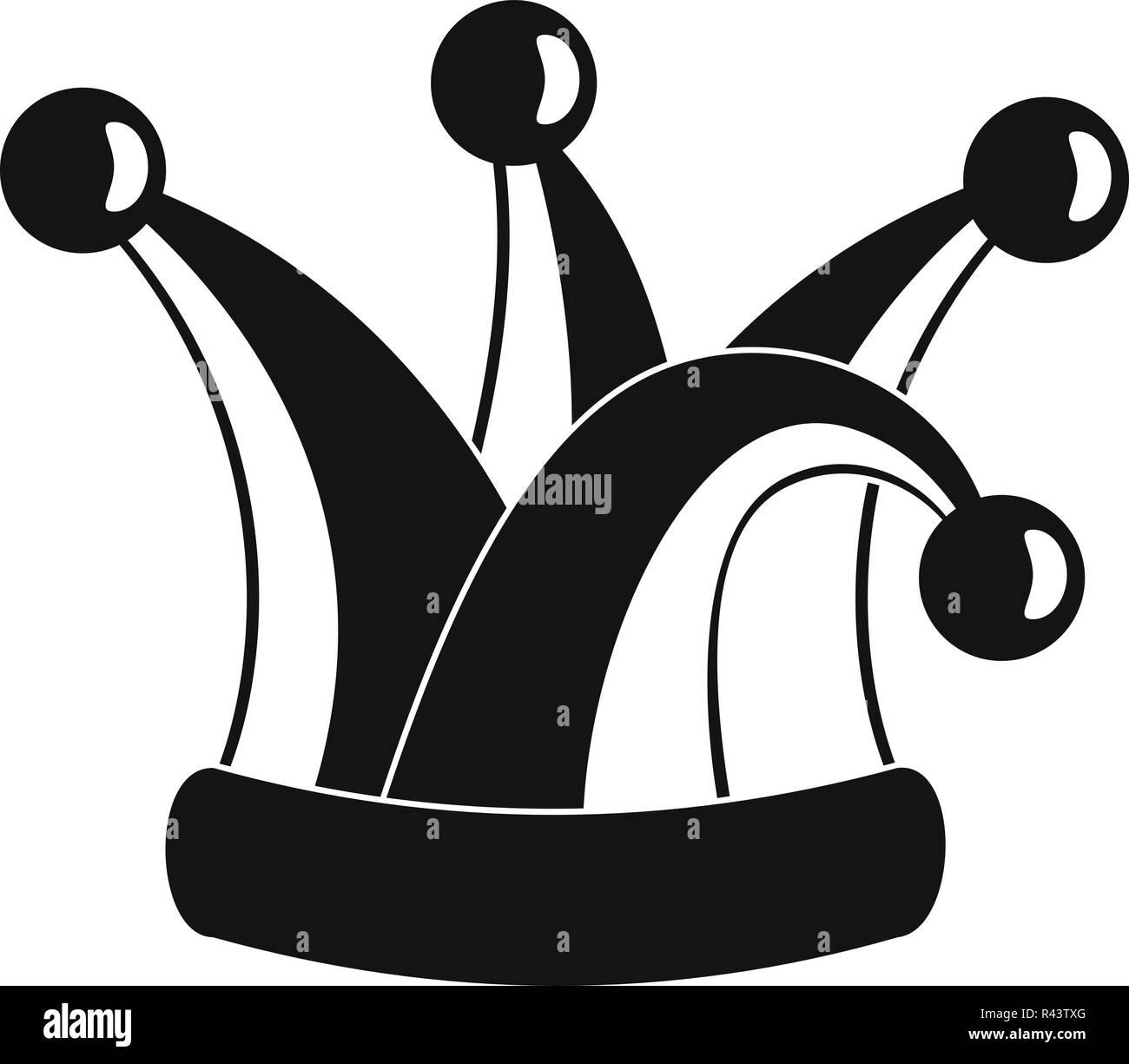 Sombrero de bufón real icono. Simple ilustración de royal jester hat icono  vectoriales para diseño web aislado sobre fondo blanco. fb0b5a87530