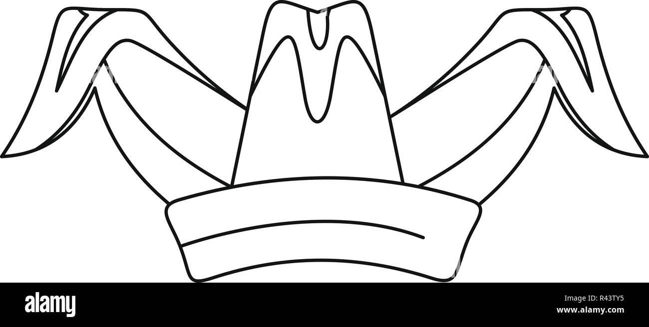Sombrero de bufón icono. Ilustración del esquema jester hat icono  vectoriales para diseño web aislado b790043e407
