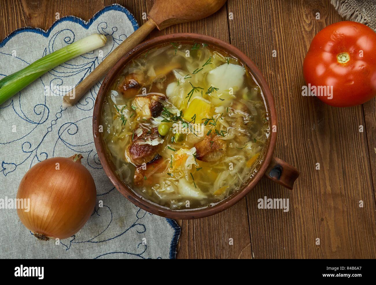 Cocina Checa | Zelnacka Bohemio Sopa De Col Tradicional Cocina Checa Platos