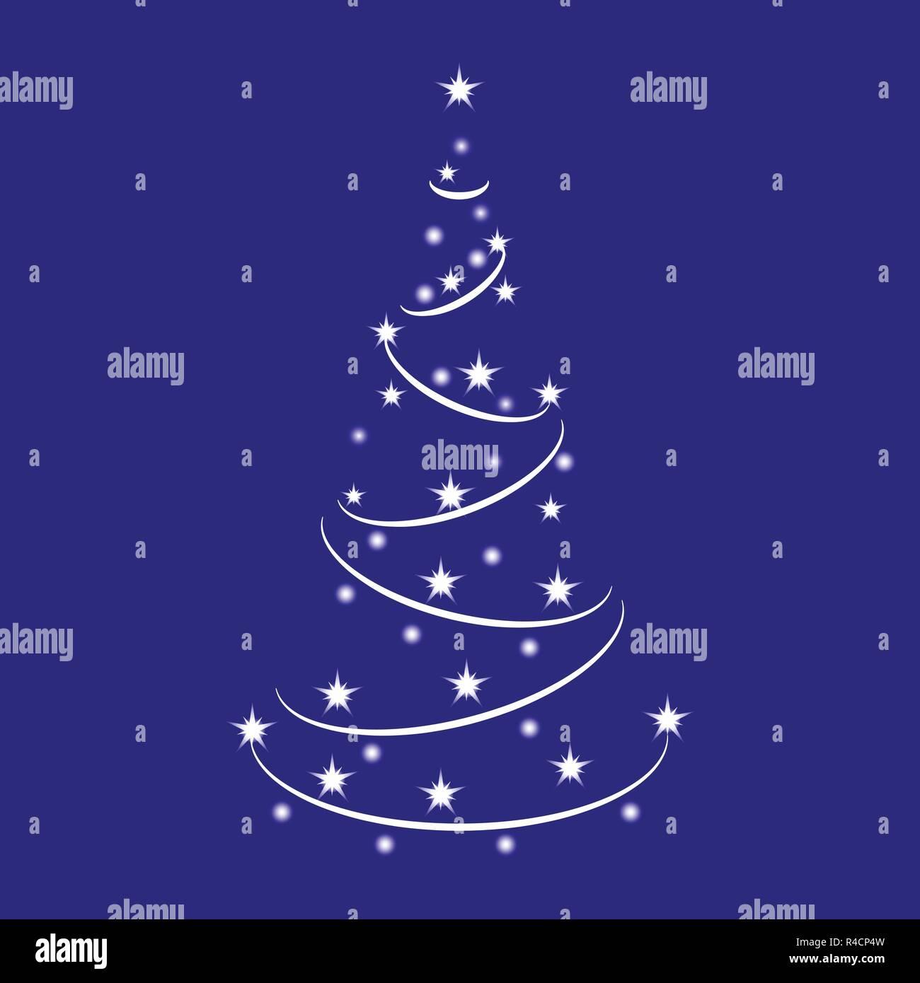 Sparkle árbol De Navidad Hecho De Brillantes Estrellas
