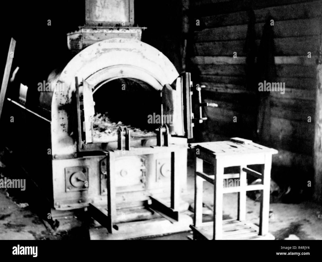 Crematorio en el campo de concentración de belsen Imagen De Stock