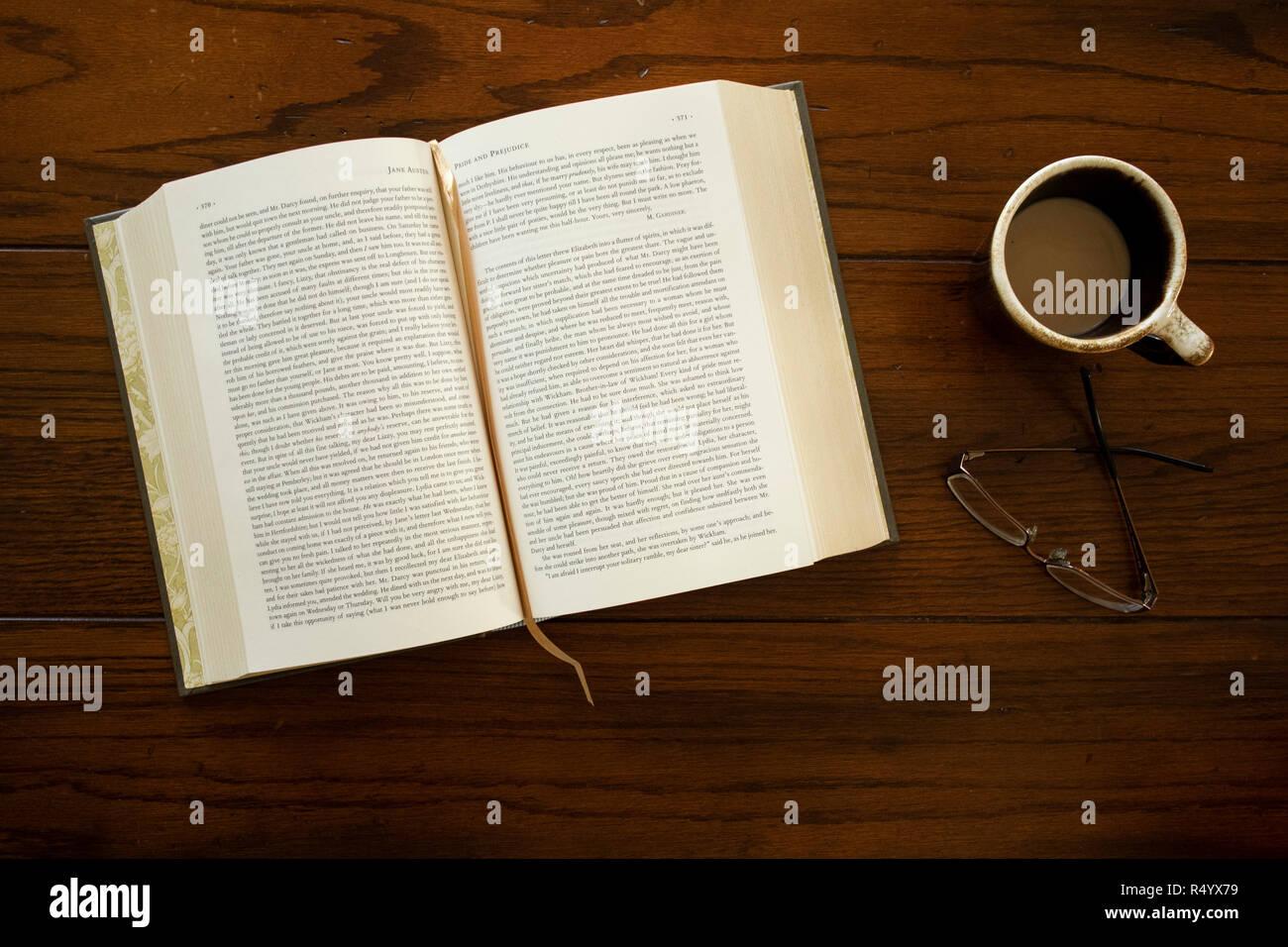 Jane Austen Libro abierto Imagen De Stock