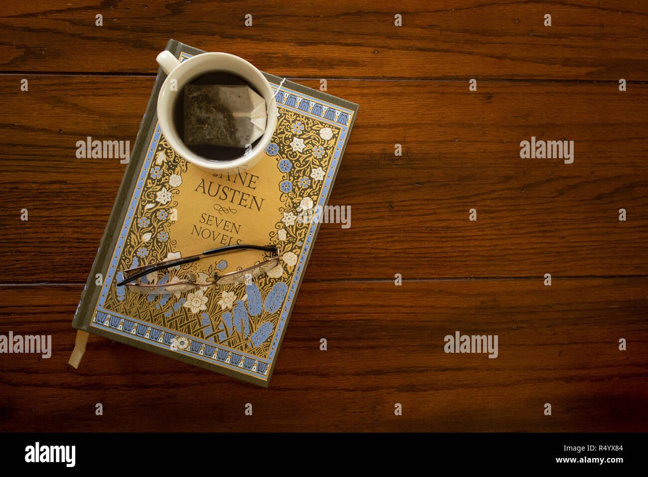 Jane Austen Portada del libro. Imagen De Stock
