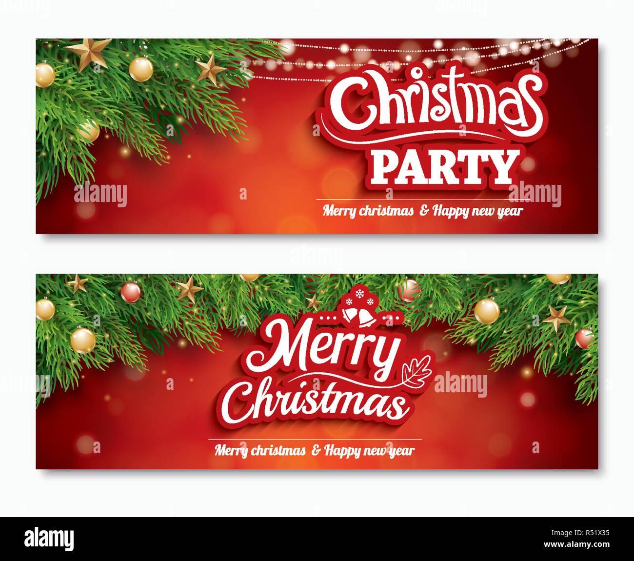 Feliz Navidad Invitación Parte Poster Banner Y Plantilla De