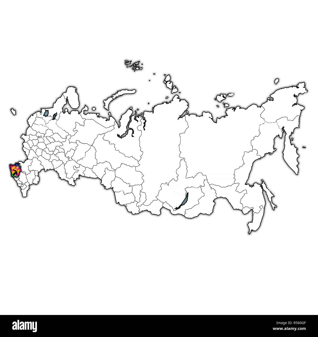 Emblema De Krasnodar Krai En El Mapa Con Las Divisiones Administrativas Y De Las Fronteras De Rusia Fotografia De Stock Alamy