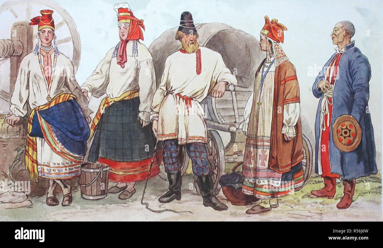 41d4e9944 Moda, vestidos históricos, trajes típicos en Rusia, del siglo XIX ...