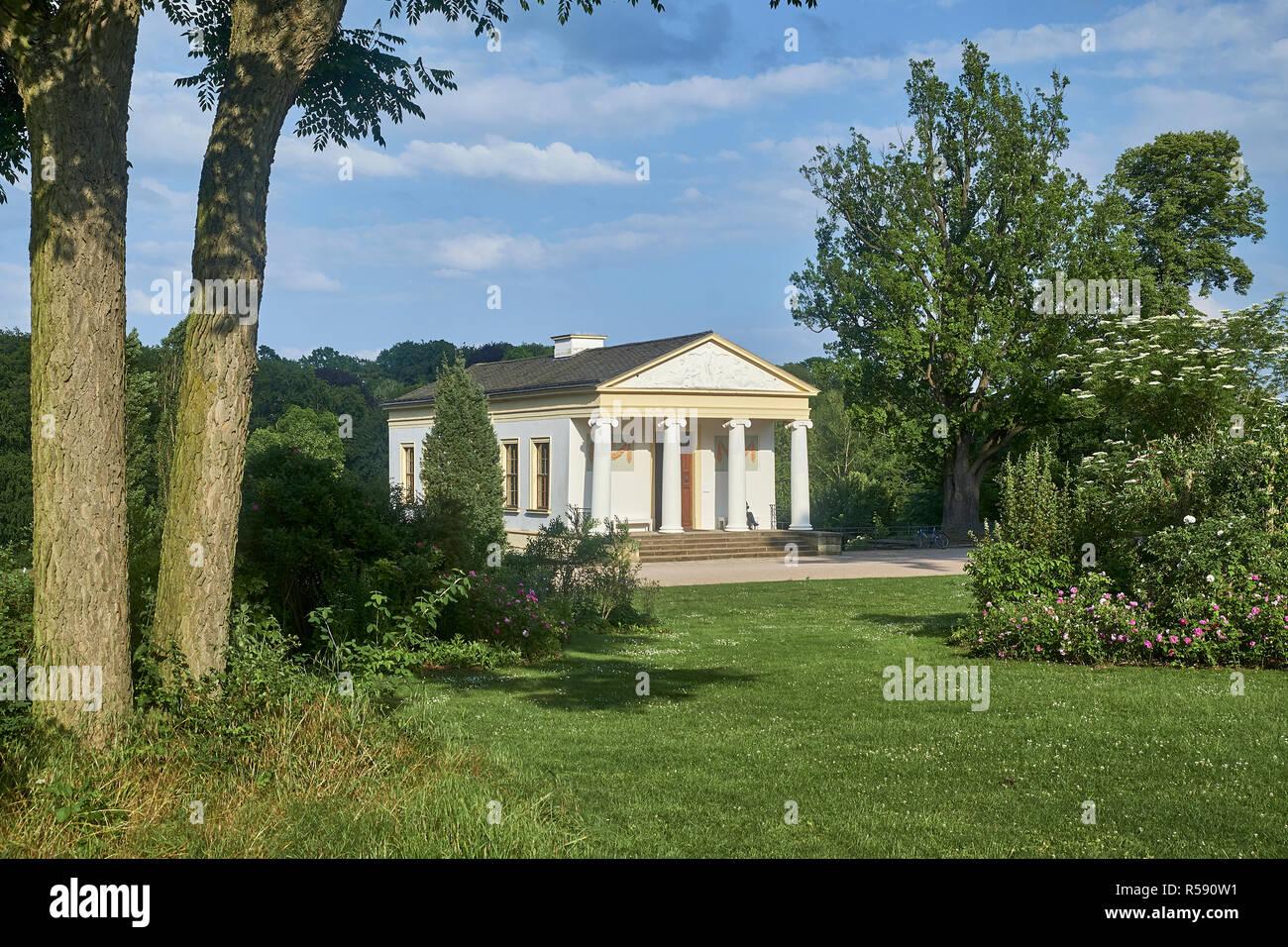Casa Romana en el parque del ILM, Weimar, Turingia, Alemania Foto de stock