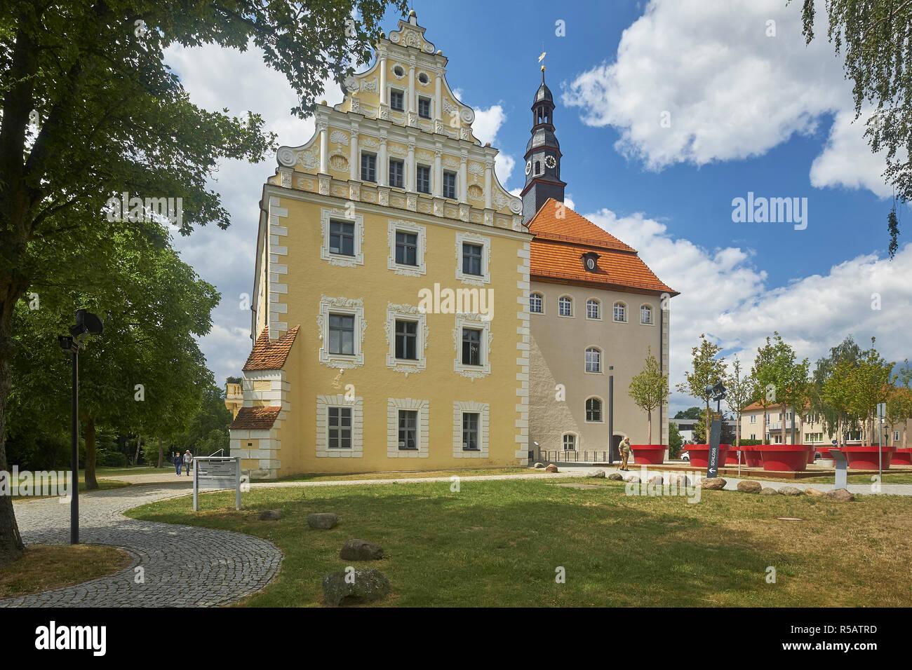 Castillo en Lübben / Spreewald, Brandenburgo, Alemania Foto de stock