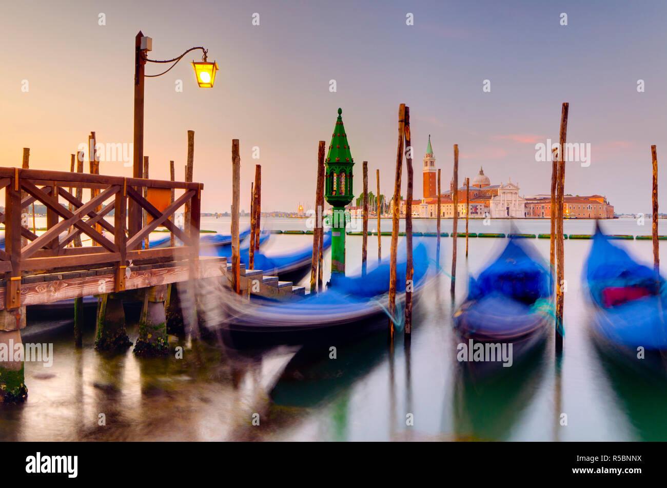 Italia, Veneto, Venecia, San Giorgio Maggiore a través Basino di San Marco Foto de stock