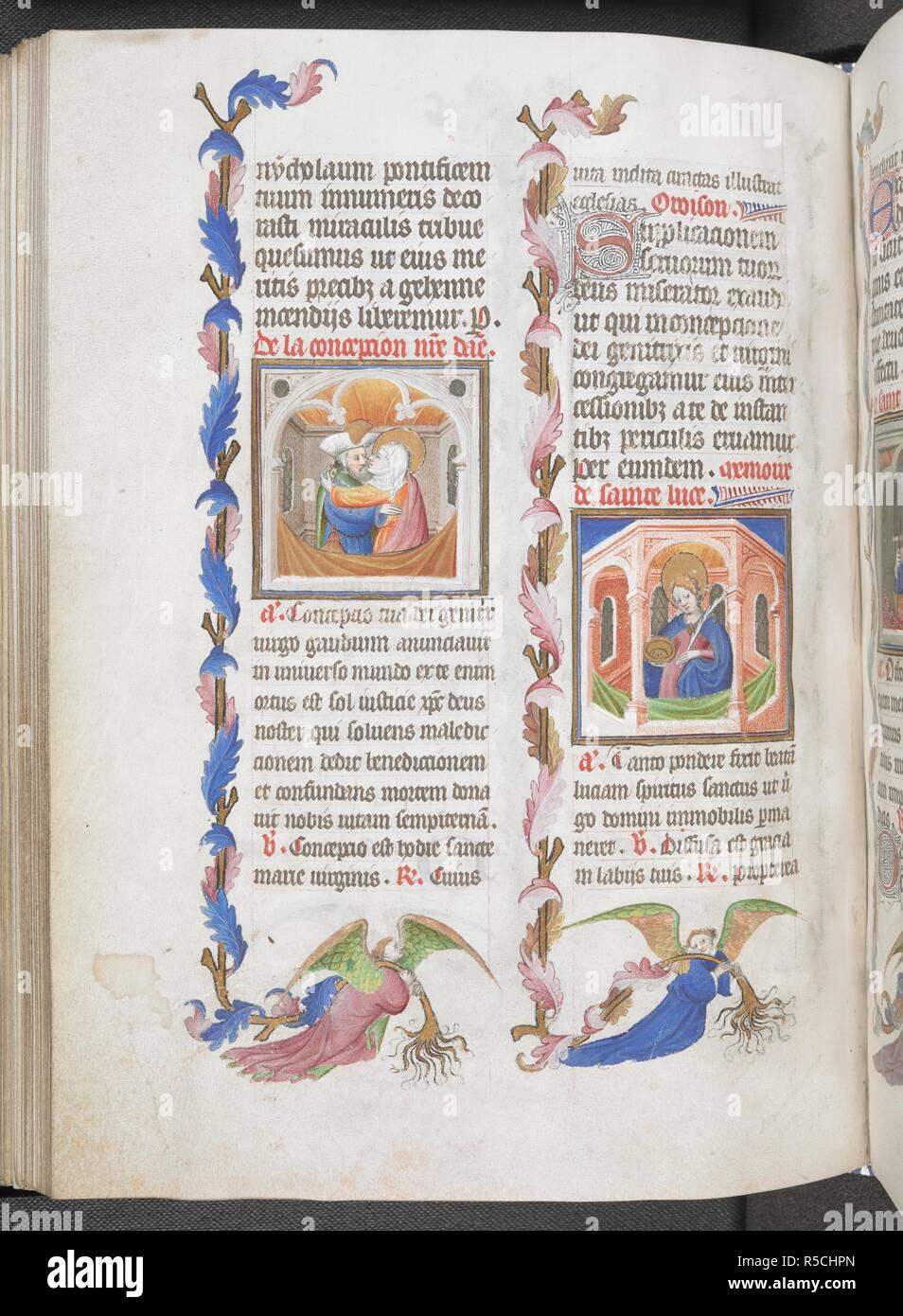 Santa Lucia Calendario.Joachim Abrazando A Anna La Concepcion De La Virgen Santa