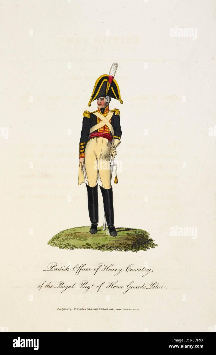 9dcf36893e45 Oficial Británico de Caballería Pesada, del Real Regimiento de Guardias a  Caballo azul. Él