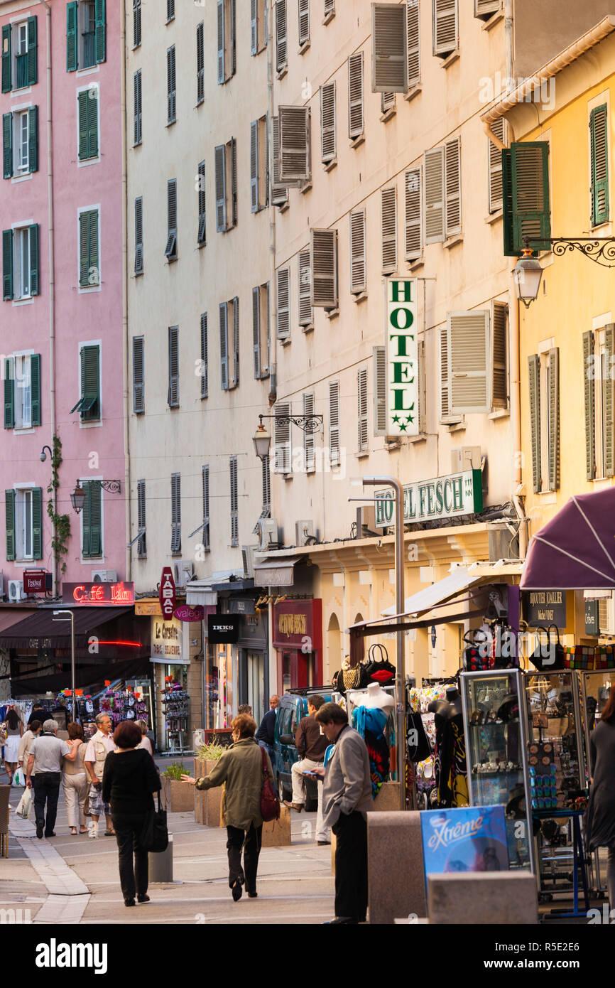 Francia, Córcega, Corse-du-Sud departamento, región de la costa oeste de Córcega, Ajaccio, rue Cardinal Foto de stock