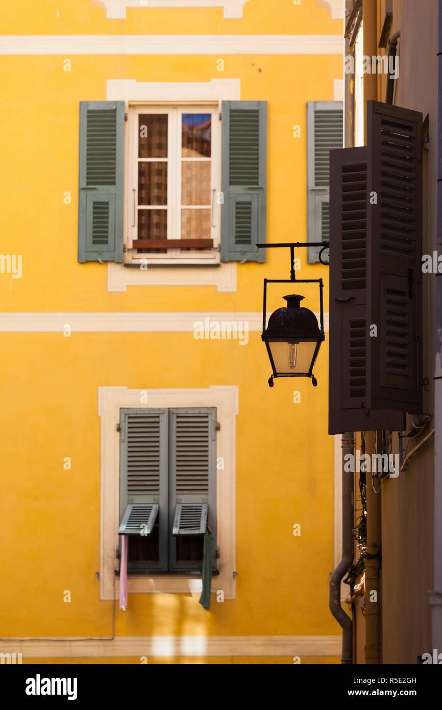 Francia, Córcega, Corse-du-Sud departamento, región de la costa oeste de Córcega, Ajaccio, edificio detalle Foto de stock