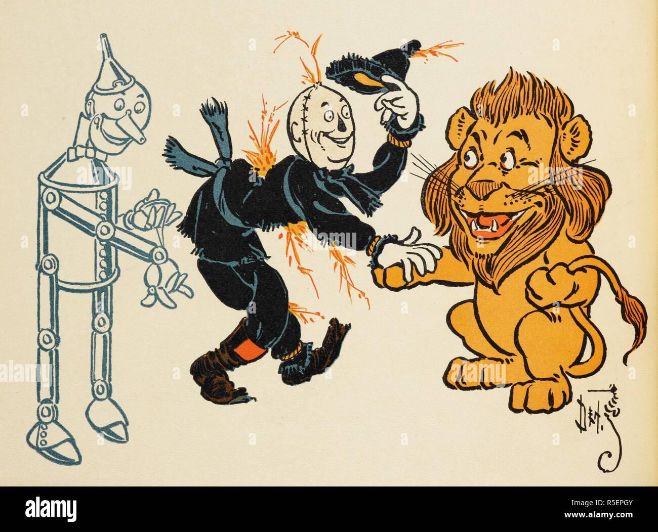 El Hombre De Hojalata El Espantapájaros Y El León Y El