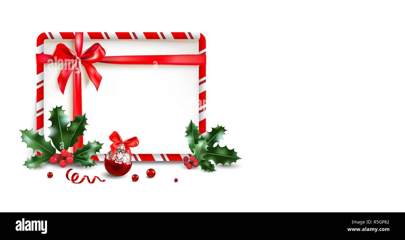 Navidad Diseño De Banner Billete Folleto Póster Tarjetas
