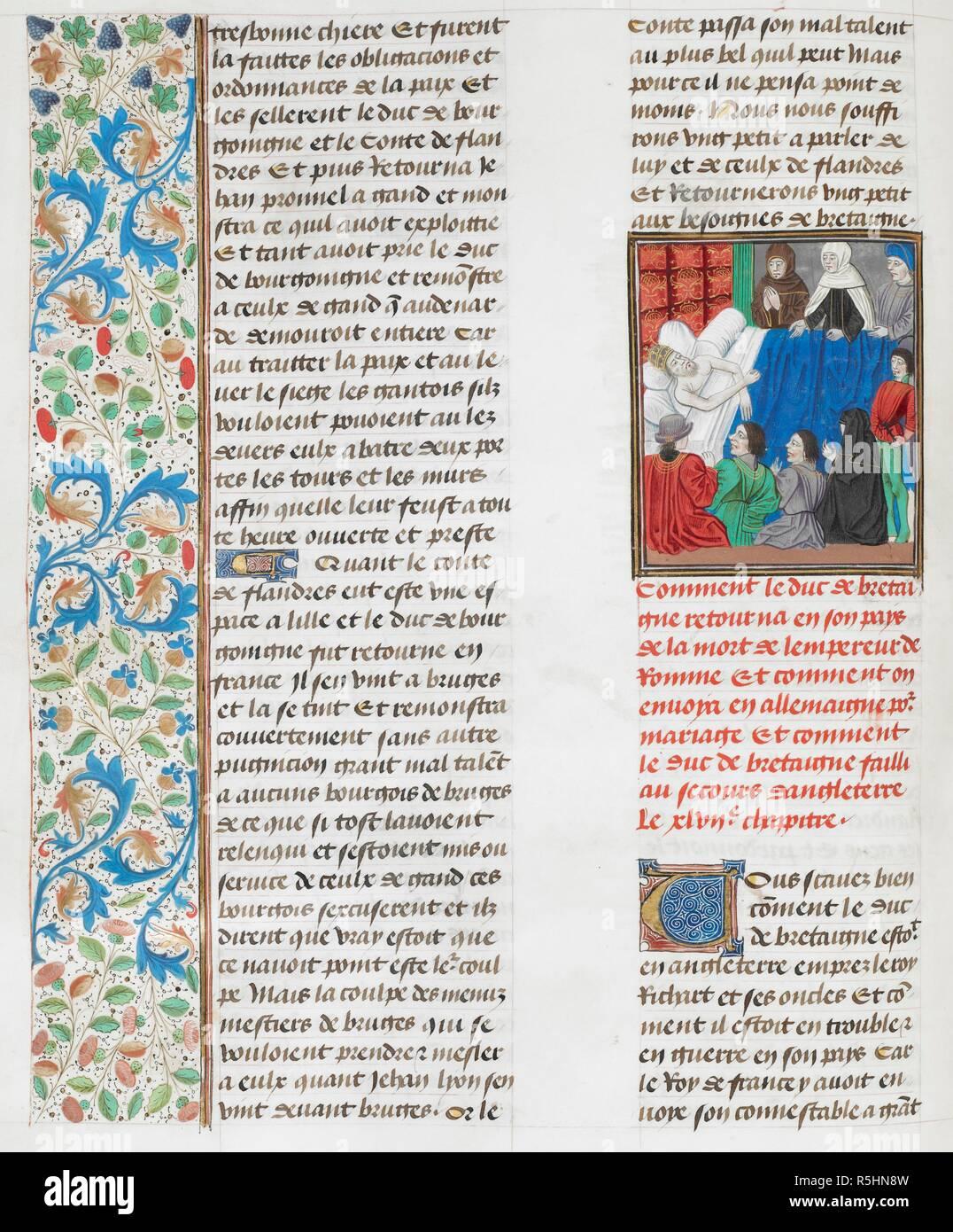 El lecho de muerte, del emperador Carlos IV. . Jean Froissart ...