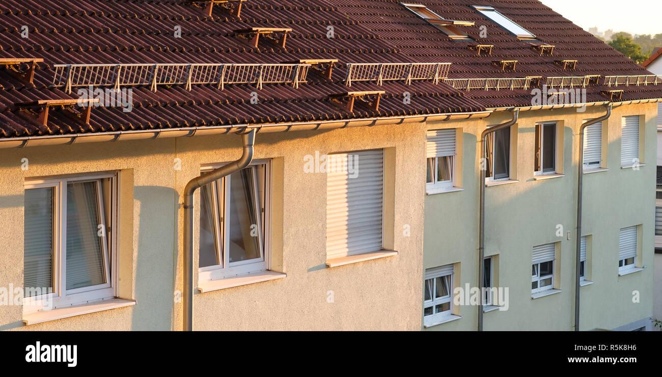 Terrazas Panorámicas Casas Con Techos Y Ventanas En El Sol
