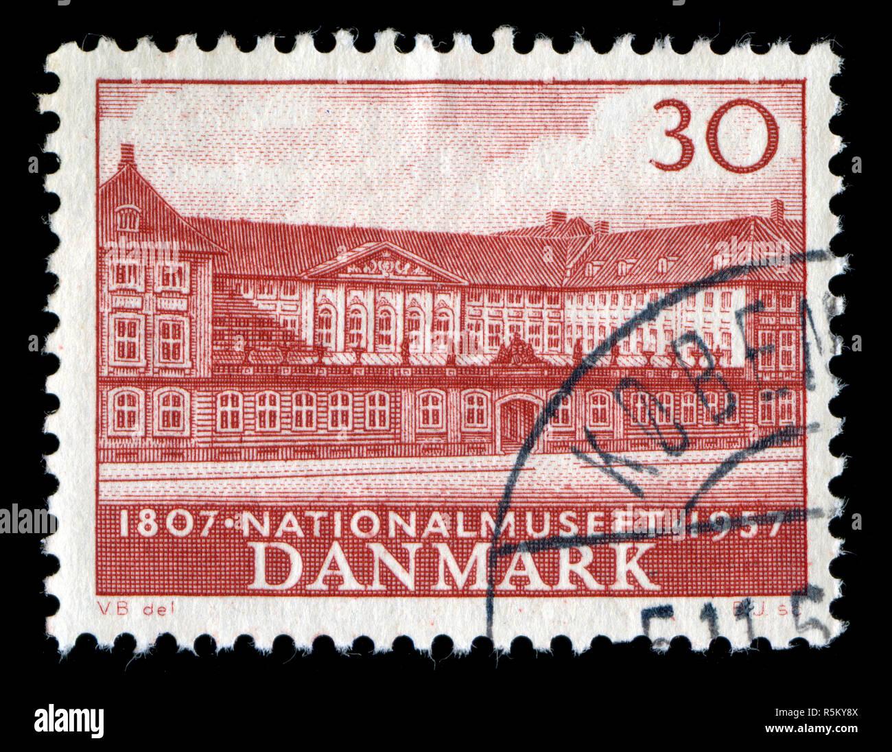 Sello de Dinamarca en el Museo Nacional serie publicada en 1957 Foto de stock