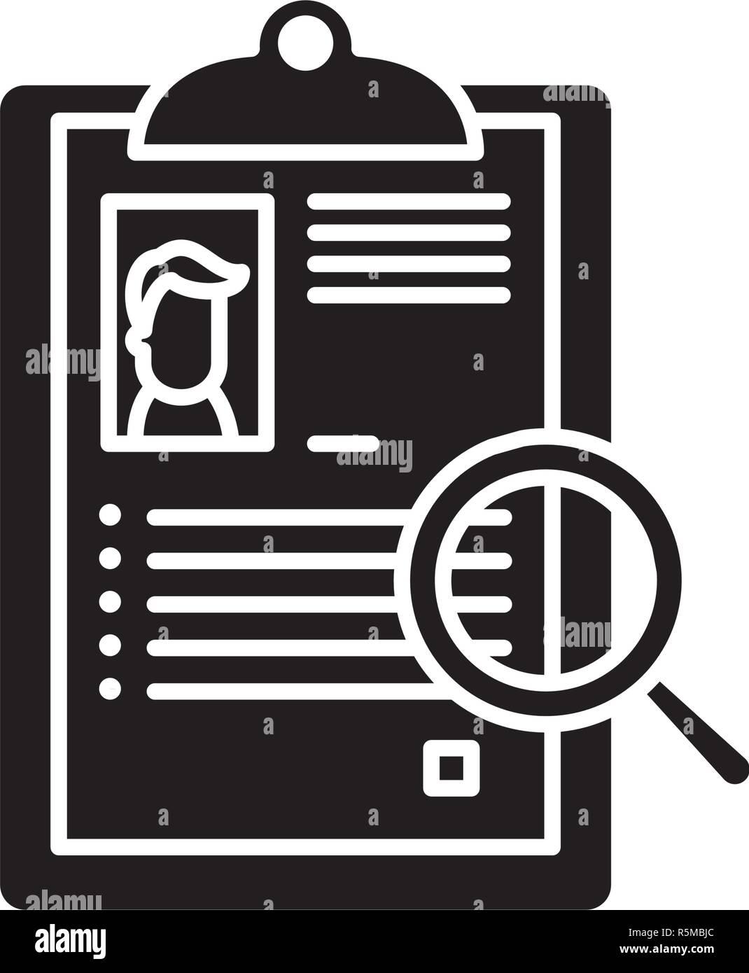 Resumen icono negro, signo de vectores de fondo aislados. Resumen concepto símbolo, ilustración Imagen De Stock